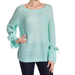 Project Nadaam mint bell-sleeve sweater Small NWT